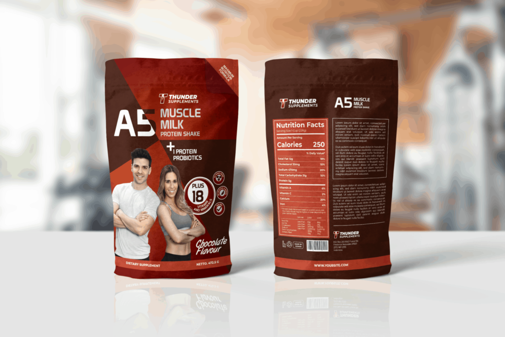Packaging Template – Muscle Supplement
