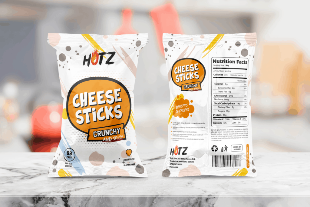 Packaging Template – Cheese Sticks