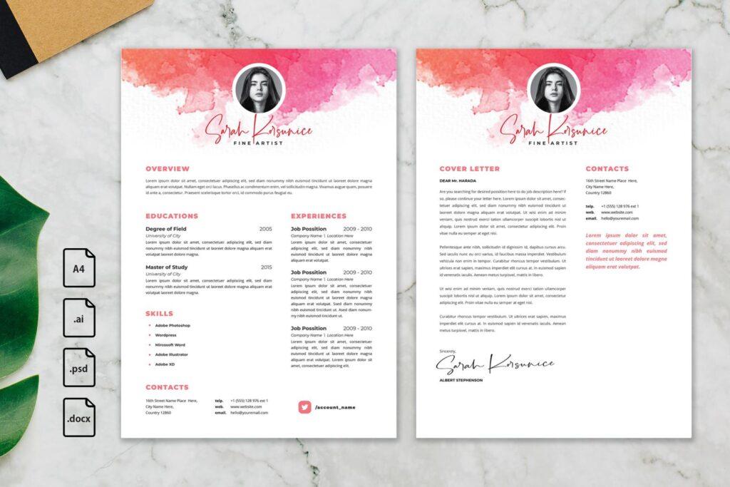 CV Resume – Fine Artist Profile