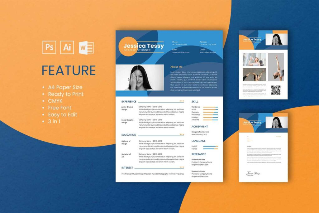 CV Resume – Graphic Designer Profile 2