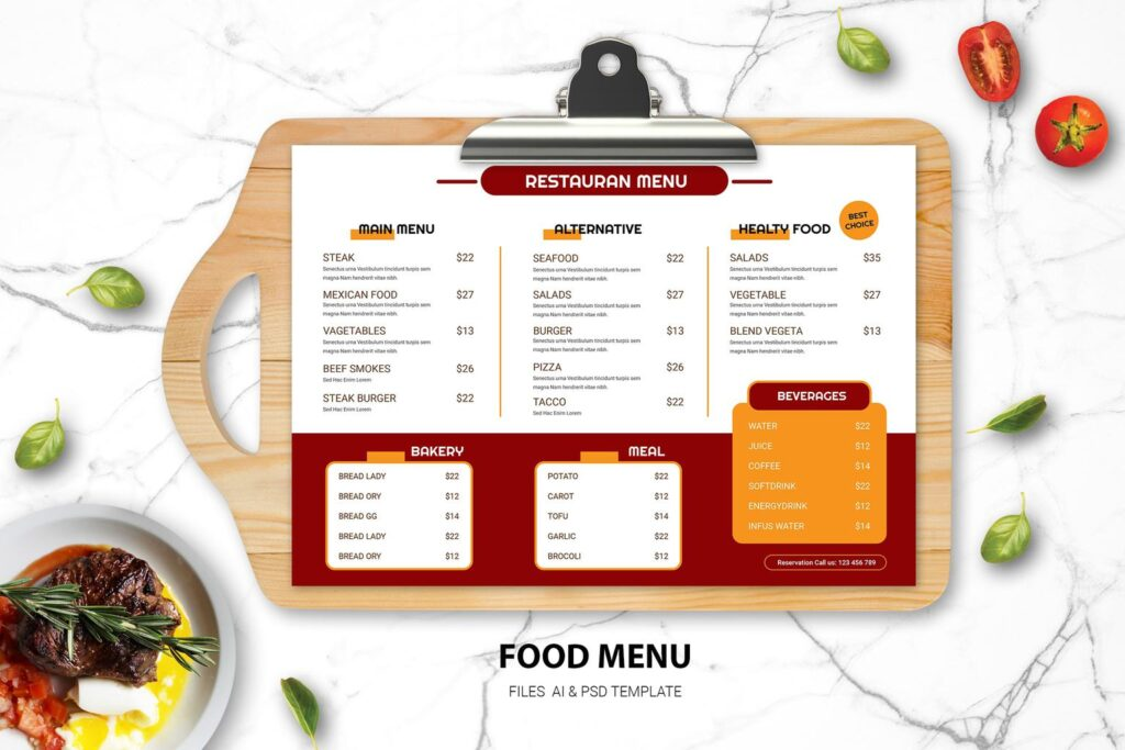 You Want To Start Cafe Or Restaurant And Need Attractive Food Menu