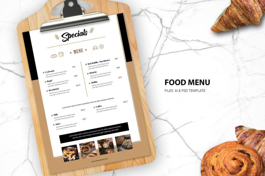 Food Menu – Bread Cafe