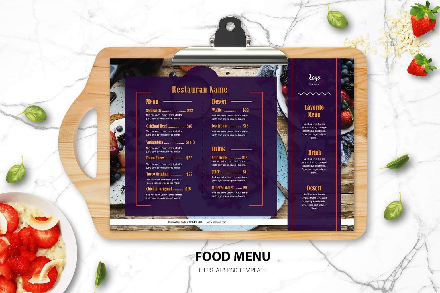 you want to start cafe or restaurant and need attractive food menu design template read this 3