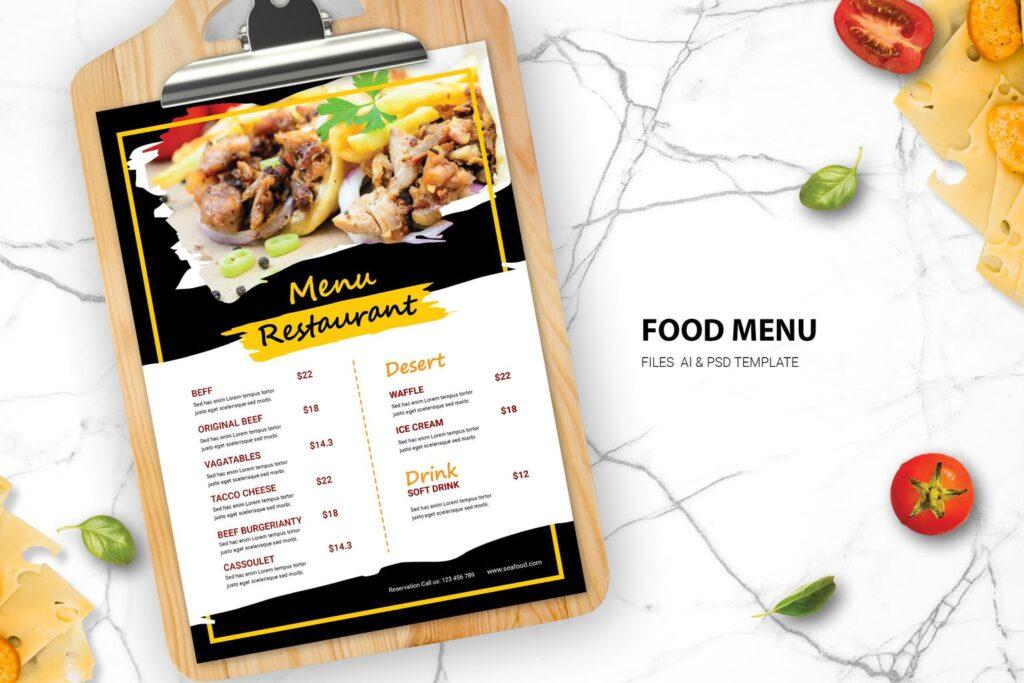 Food Menu -Beef Variant