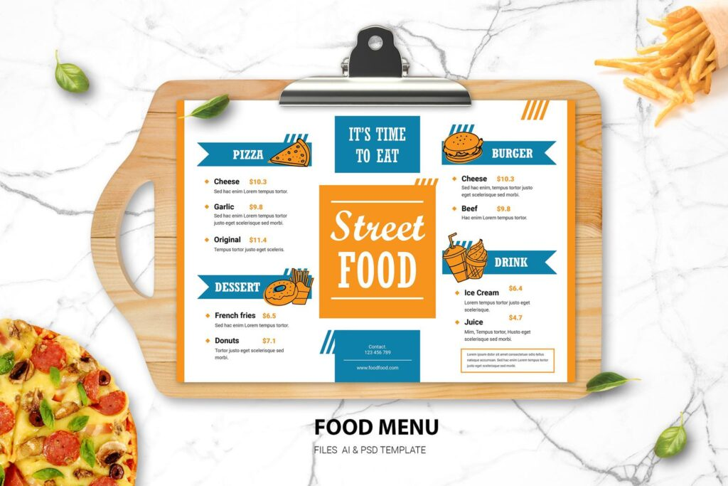 Food Menu – Street Food