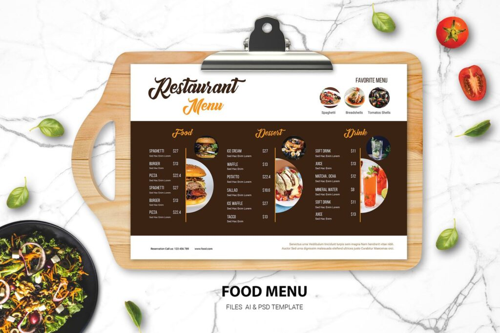Food Menu – Western Fast Dishes