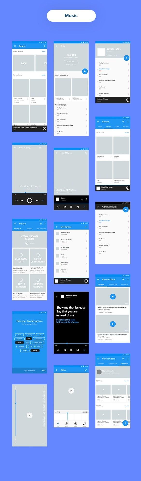 Wireframe Mobile UI KIT