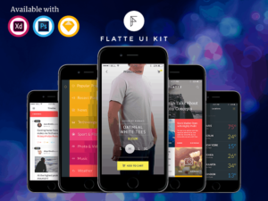 Flatte Mobile UI Kit