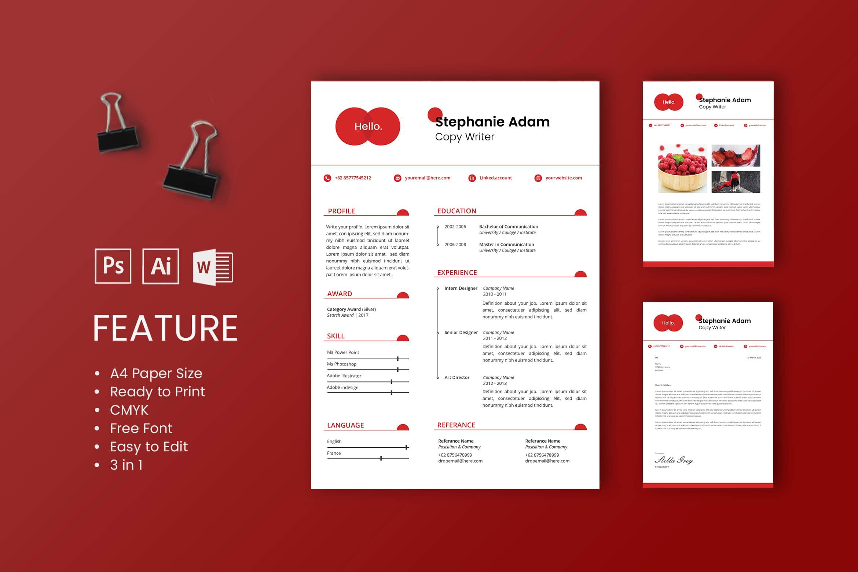 CV Resume – Copywriter Profile 3