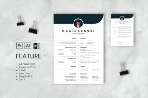CV Resume – Graphic Designer Profile 4