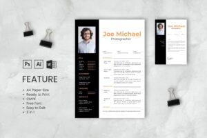 CV Resume – Photographer Profile 6