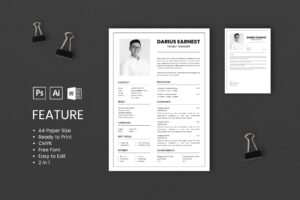 CV Resume – Project Manager Profile 2