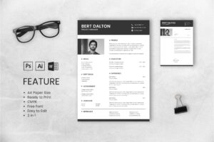 CV Resume – Project Manager Profile 4