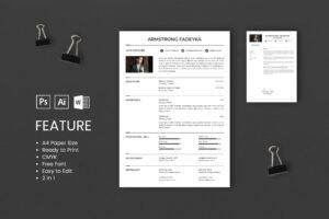 CV Resume – UI & IX Designer Profile 2
