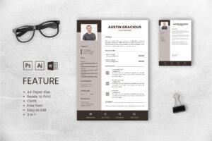 CV Resume – UI & IX Designer Profile 3