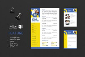 CV Resume - Art Director Profile 3
