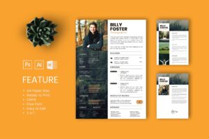 CV Resume - Photographer Profile 3