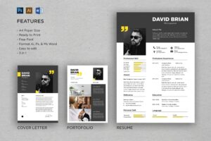 CV Resume - Photographer Profile
