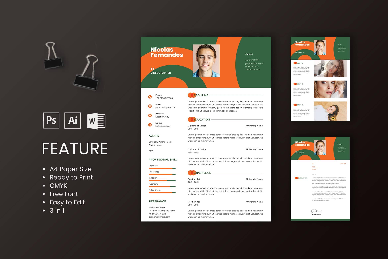 CV Resume - Videographer Profile 4