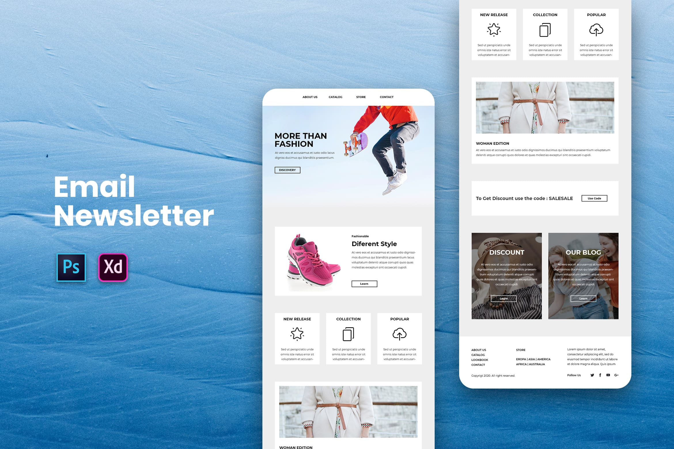 Different Fashion Style - Email Newsletter