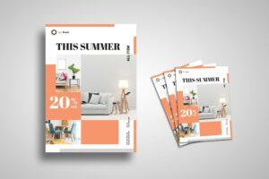 Flyer Template - Decorative Grid Design