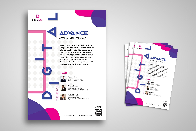 Flyer Template - Digital Advance