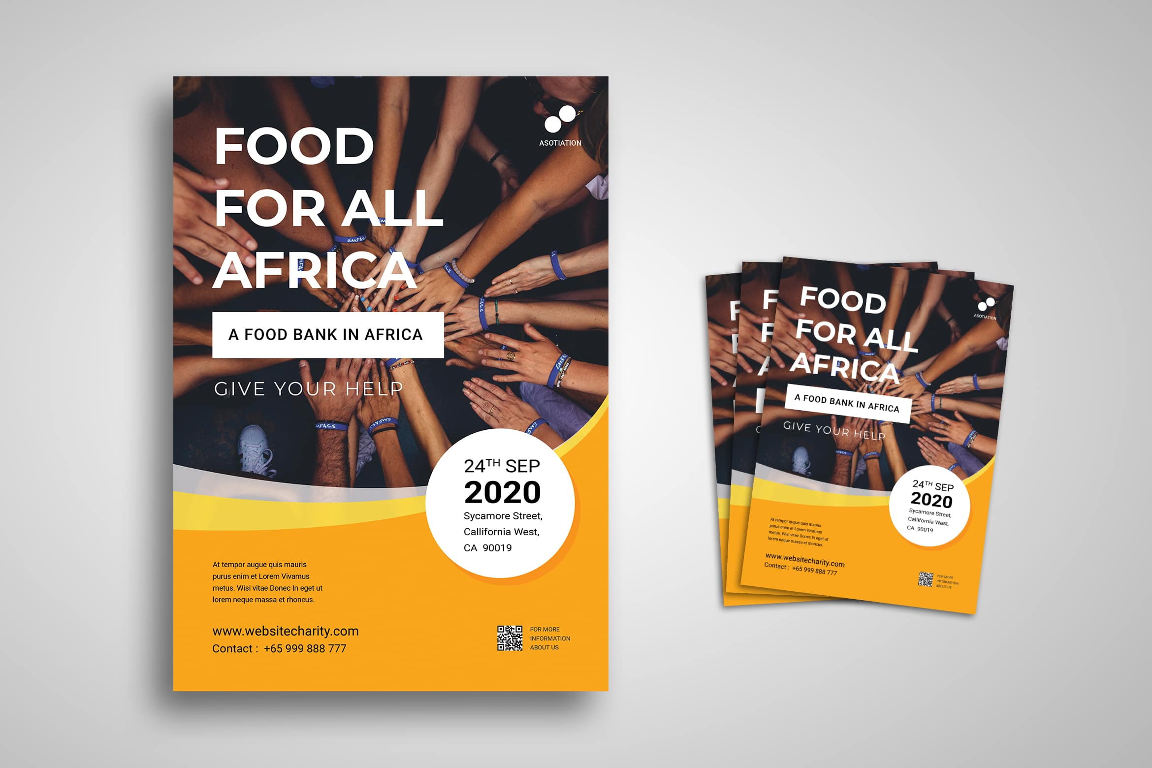Flyer Template - Food Charity