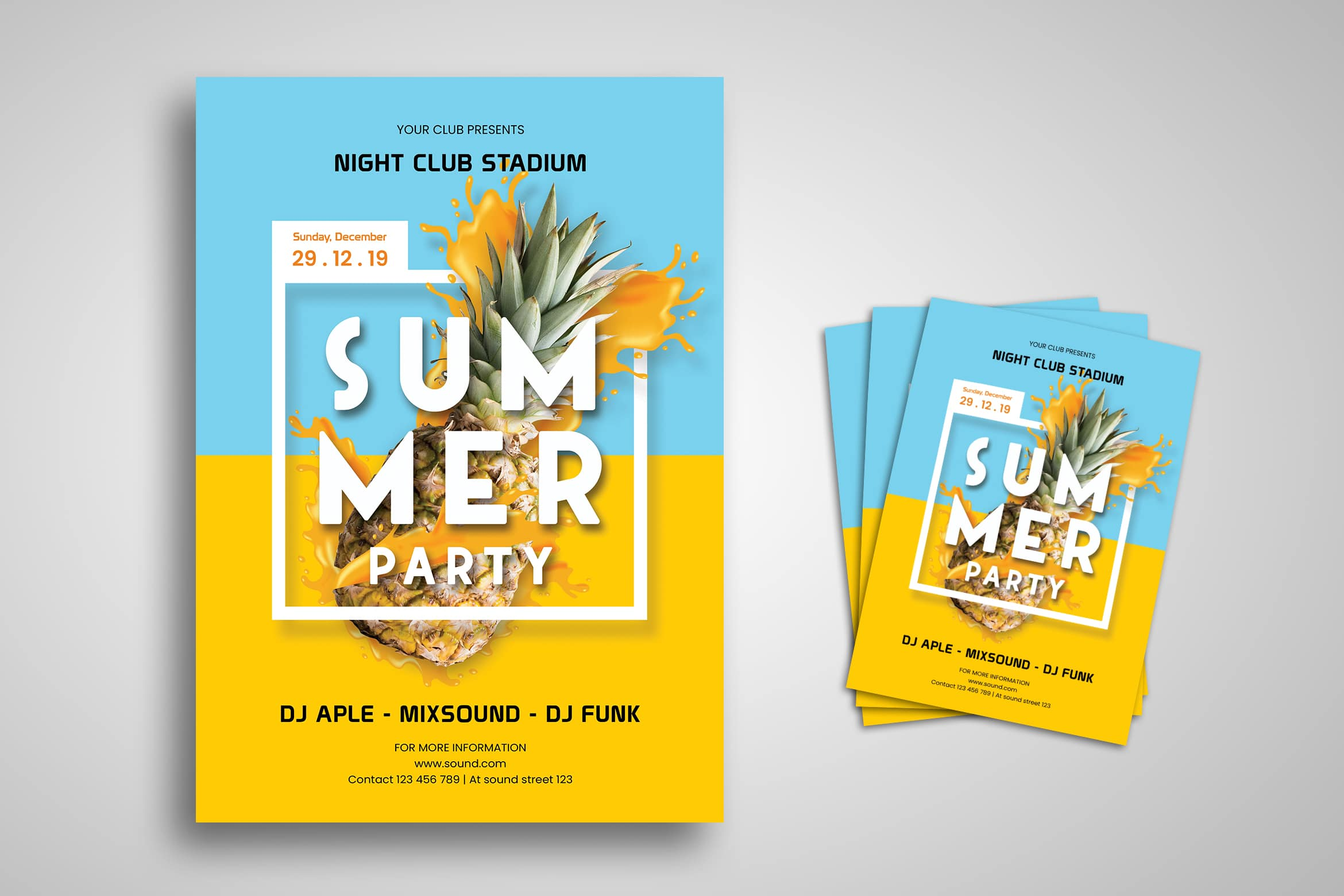 Flyer Template - Fresh Summer Party