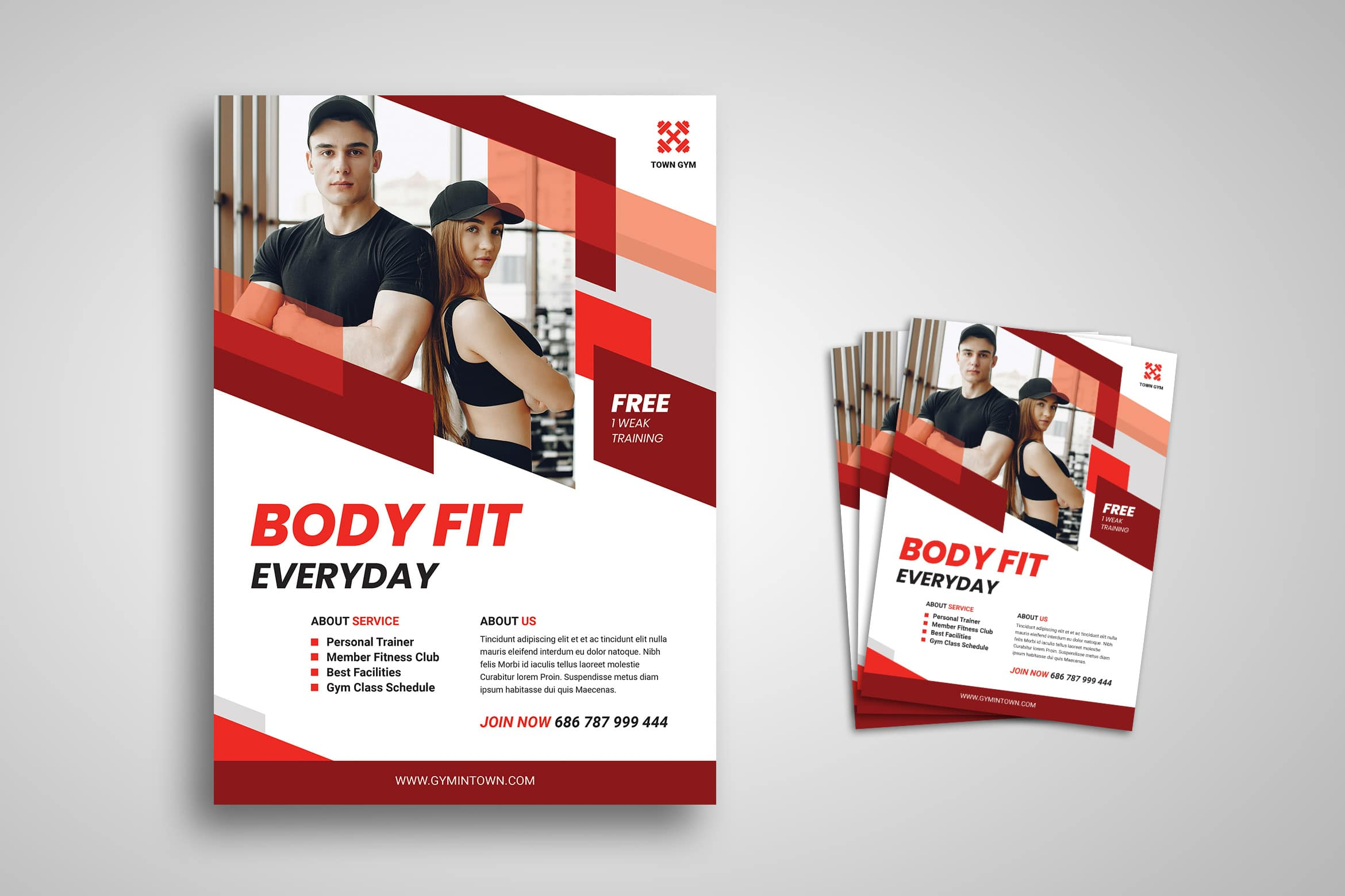 Flyer Template - Gym Town Service