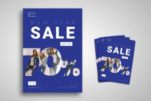 Flyer Template - New Year Sale