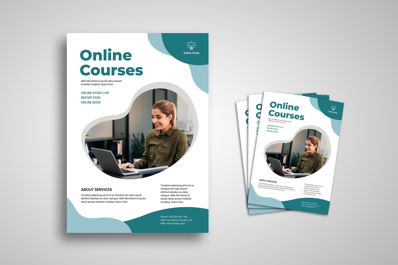 Flyer Template - Online Courses Promotion