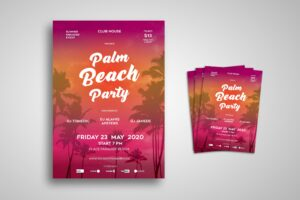 Flyer Template - Palm Beach Party