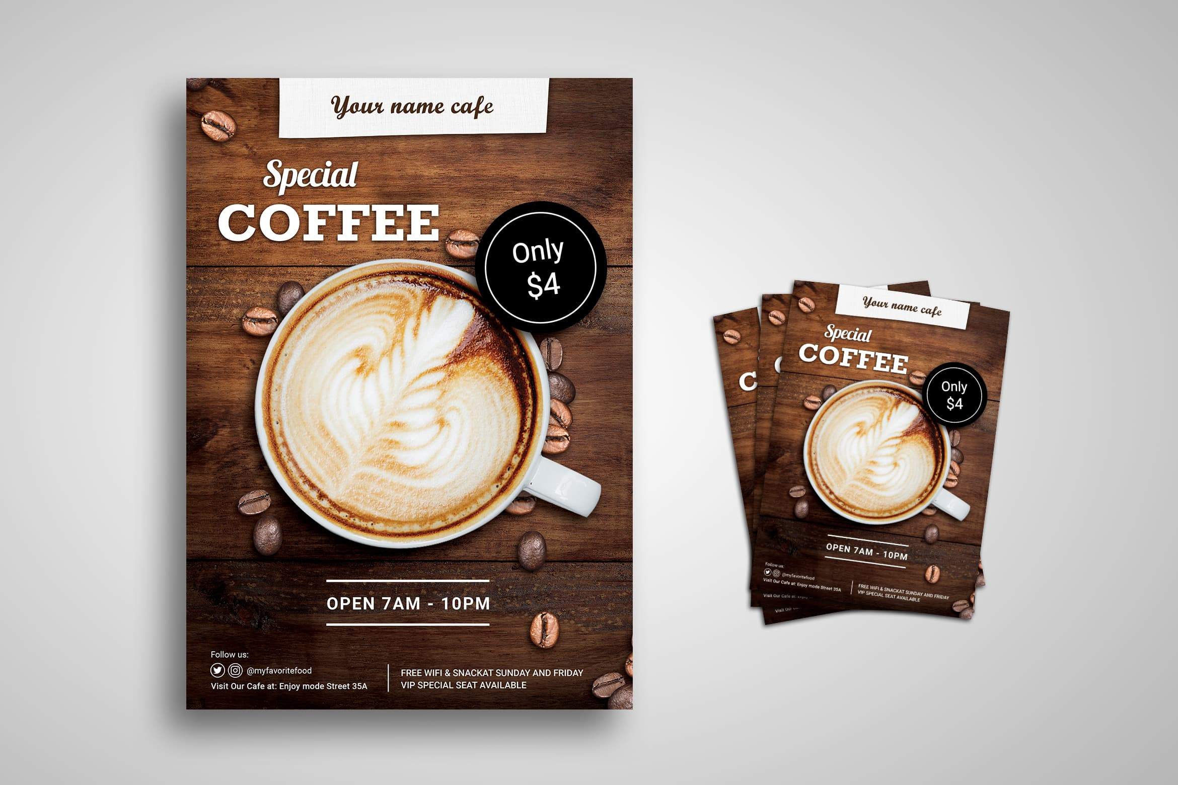 Flyer Template - Special Coffee