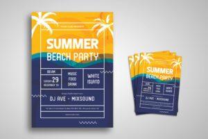 Flyer Template - Summer Beach Party