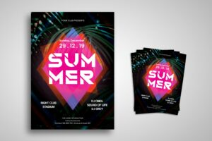 Flyer Template - Summer Night