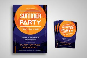 Flyer Template - Summer Party Event