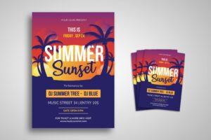 Flyer Template - Summer Sunset