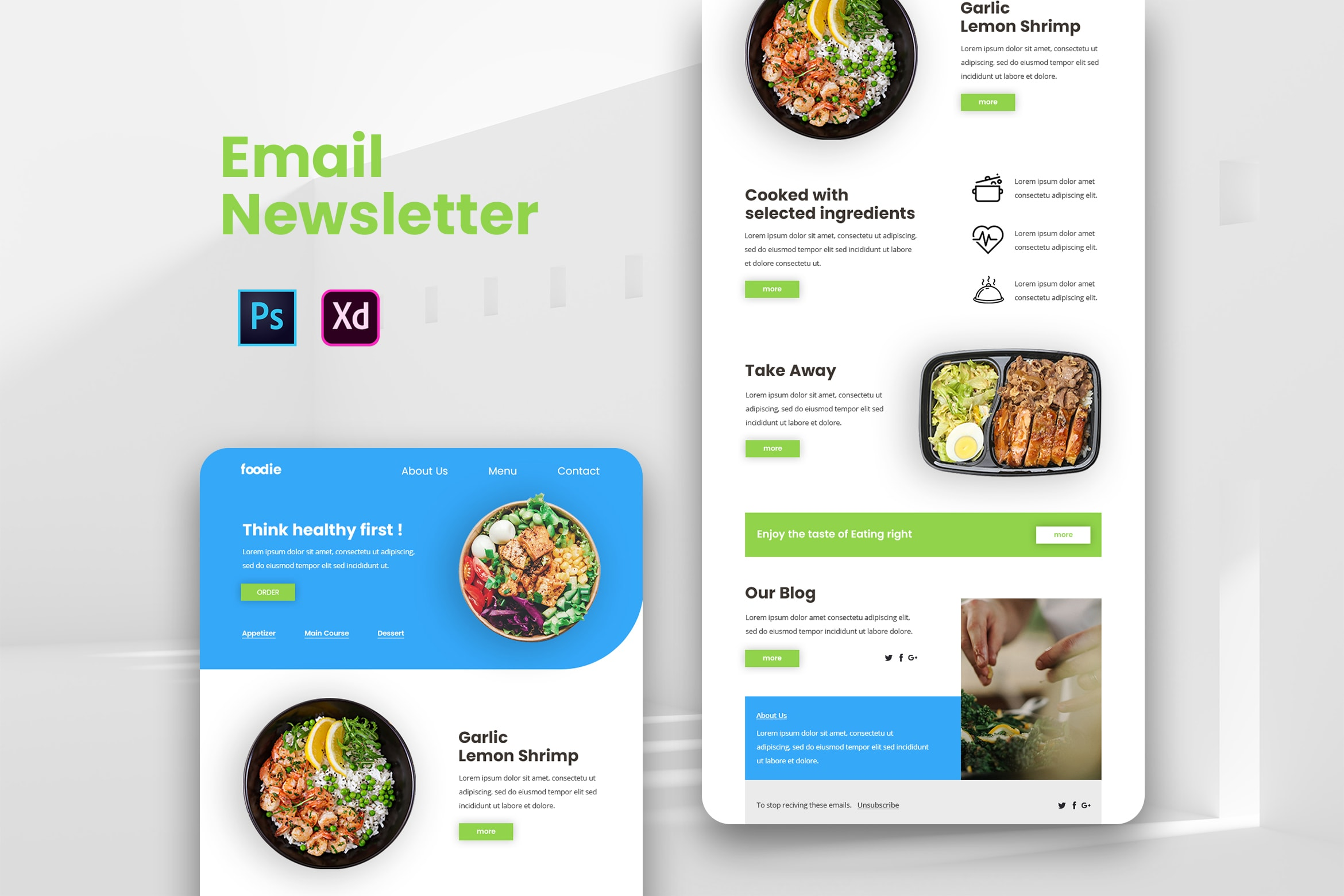 Healthy Food - Email Newsletter