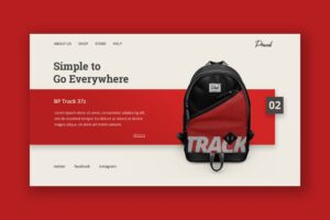 Hero Header - Backpack Track Bag