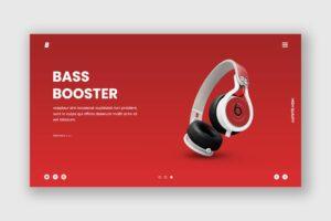 Hero Header - Bass Booster Headphone