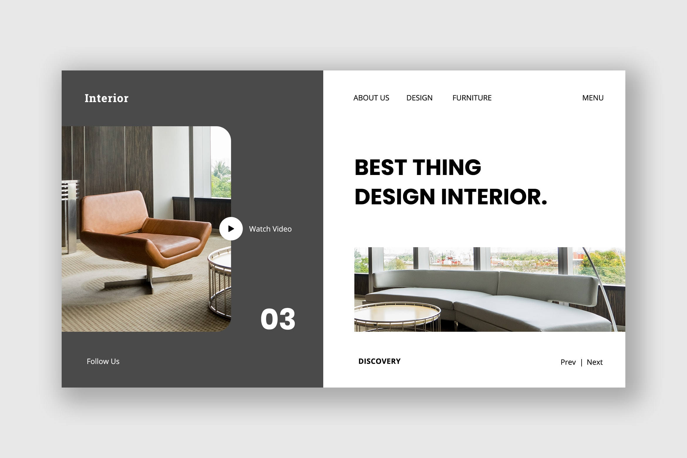 Hero Header - Design Interior Service
