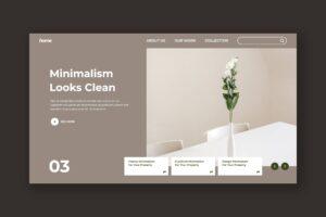 Hero Header - Interior Minimalism Design