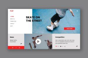 Hero Header - Street Skate Board
