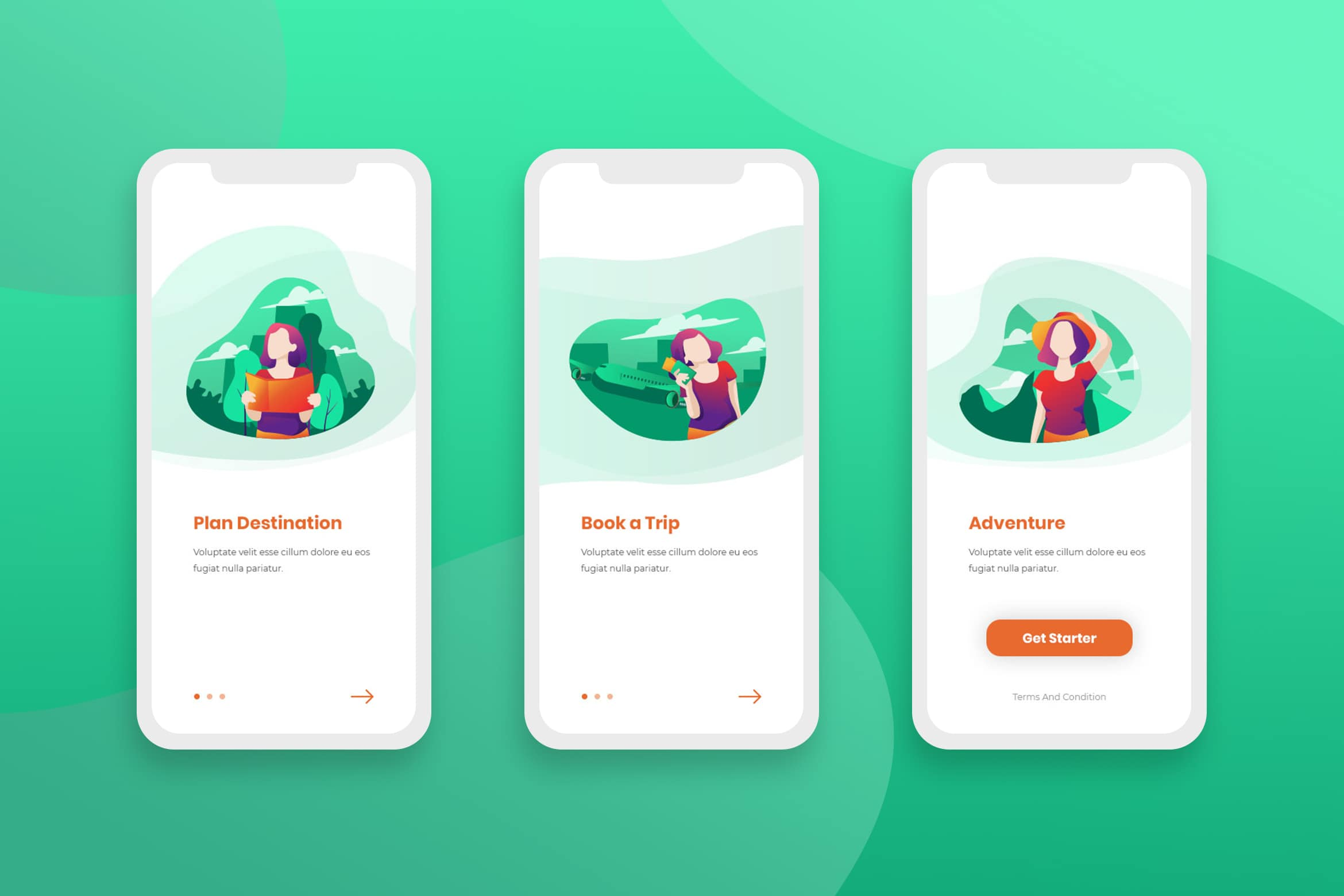 Onboarding Screens - Trip & Adventure