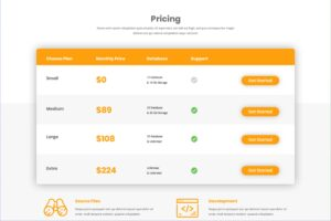 Pricing Table - Database Options