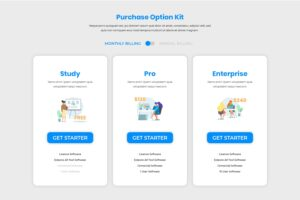 Pricing Table - Purchasing Option Kit
