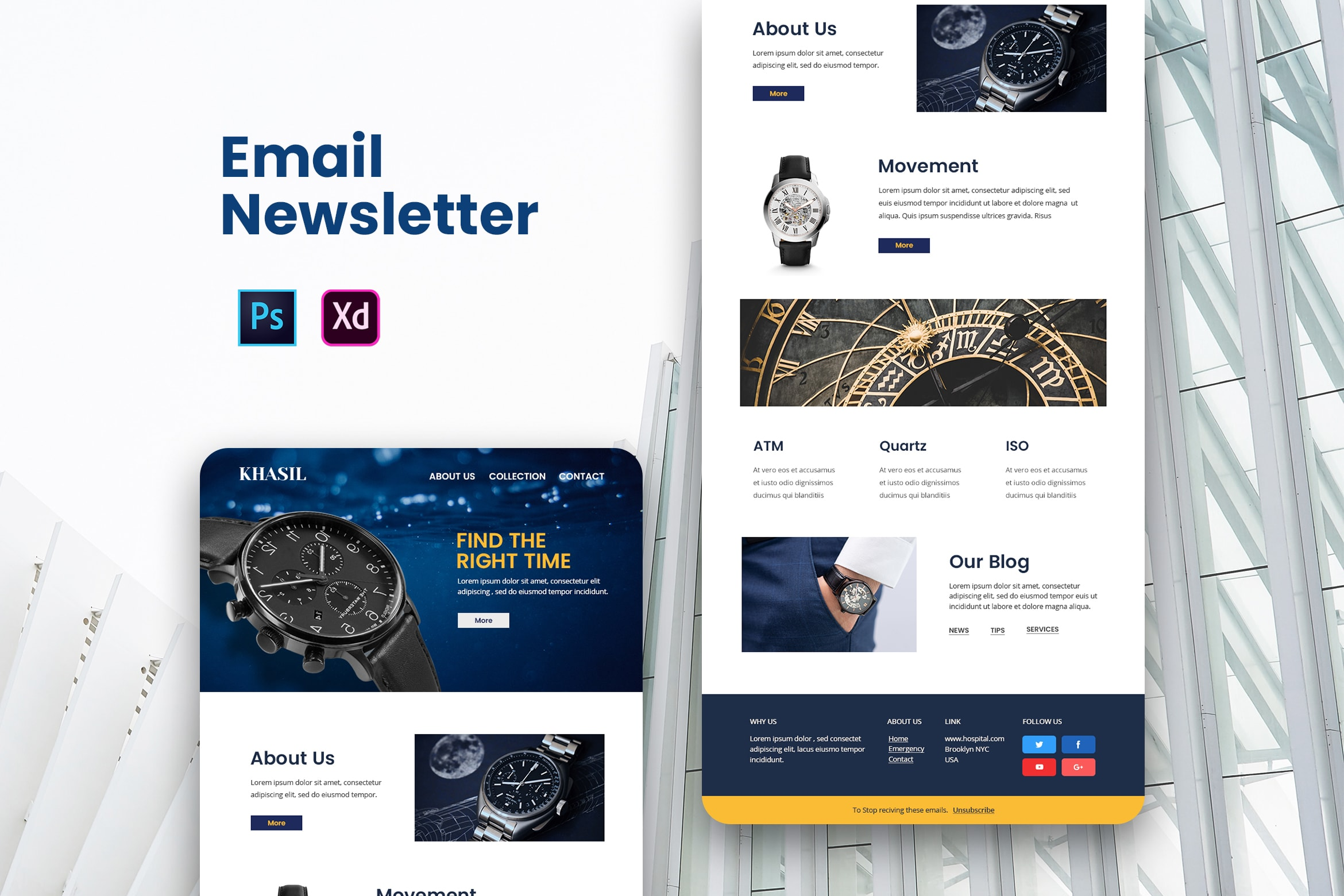 Wristwatch Store - Email Newsletter