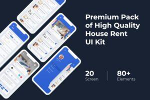 Mobile UI KIT - House Rent