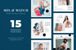Instagram Banner - Mix Fashion Theme