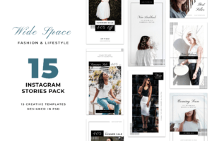 Instagram Stories - White Fashion Theme